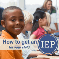 how to get an IEP children in school smiling and happy