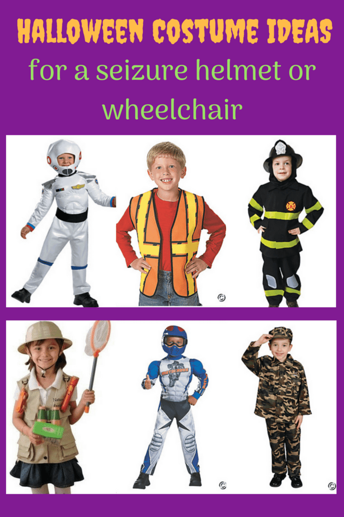 Struggling to find a cute Halloween costume that includes a seizure helmet or wheelchair and  sc 1 st  A Day in our Shoes & 17 Halloween Costumes Ideas for a Seizure Helmet or Wheelchair.