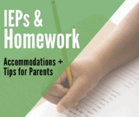 homework iep accommodations