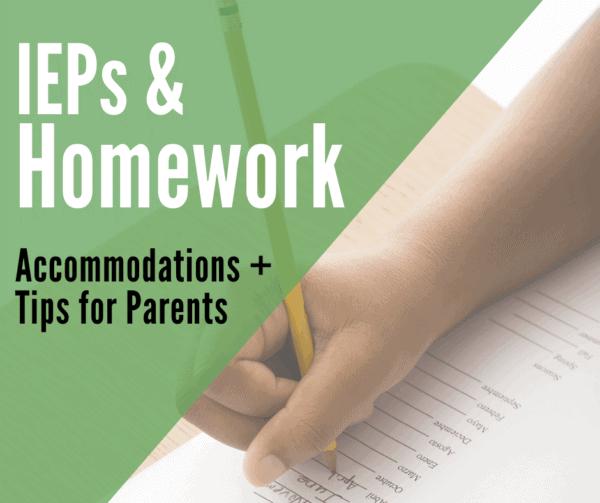 homework iep accommodations