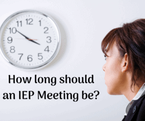 how long is an iep meeting