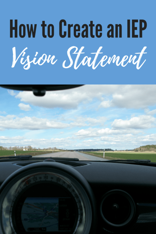 how to create IEP vision statement
