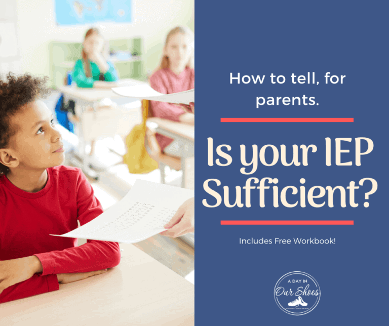 Is your Child's IEP sufficient? How to tell, for parents.
