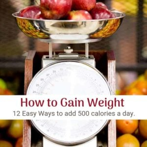 how to gain weight using a pile of apples on a scale