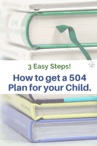 get a 504 plan for your child book stacks