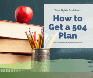 how to get a 504 plan