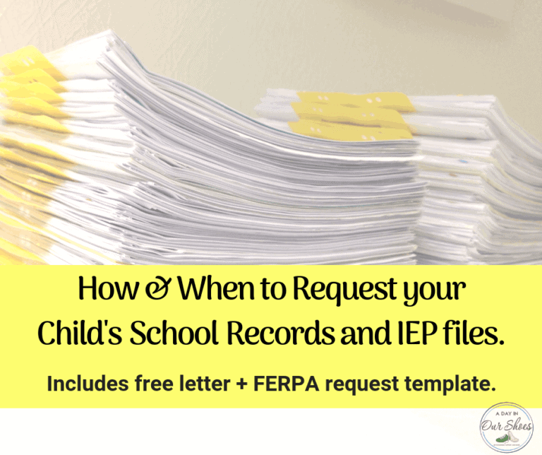 How {and when!} to Request your Child's School Records. {including IEP files}