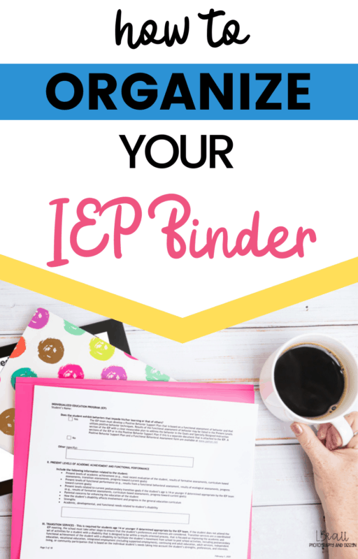 How to Organize your IEP Binder (and track IEP Goals!)