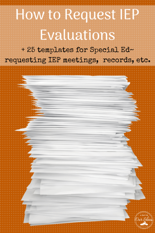 how to request an IEP evaluation