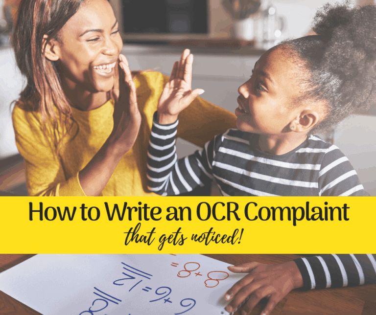 14 Tips for Writing an OCR Complaint that gets Noticed | IEP | 504