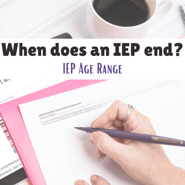 When does an IEP end? IEP Age Range
