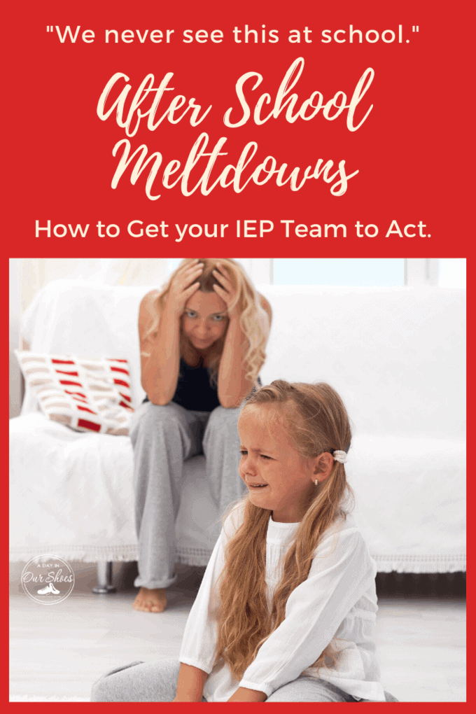 how to avoid after school meltdowns and get them addressed by your IEP team