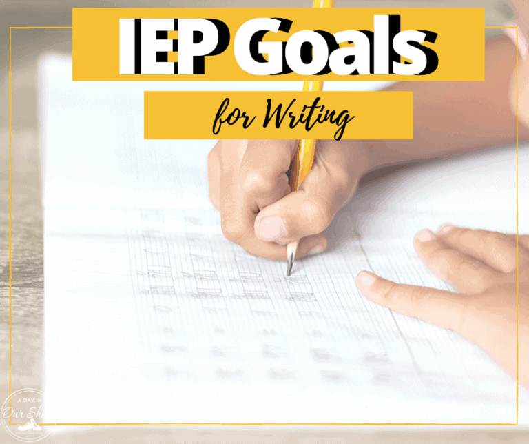 10 Measurable IEP Goals and Objectives for Writing | Written Expression | Printable List