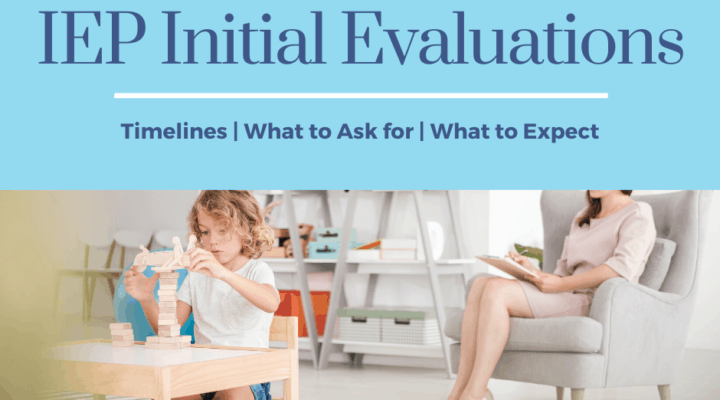 iep initial evaluations