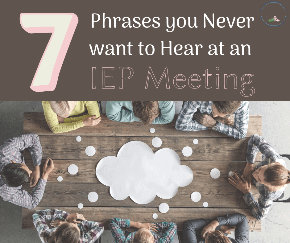 IEP team meeting and what phrases you don't want to hear