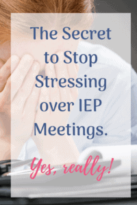 stop stressing over IEP meetings adult with head in hands frustrated