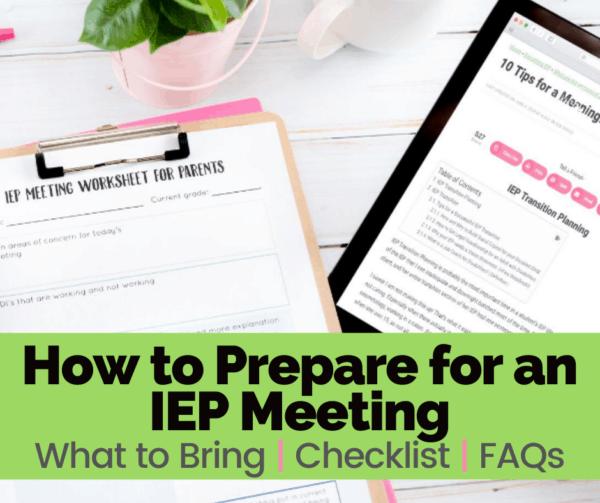 iep meeting worksheet prepare for iep meeting