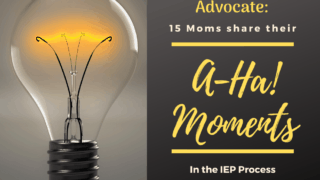 "From Mom to Advocate: 15 Moms share their ""A-ha!"" Moments in the IEP process."
