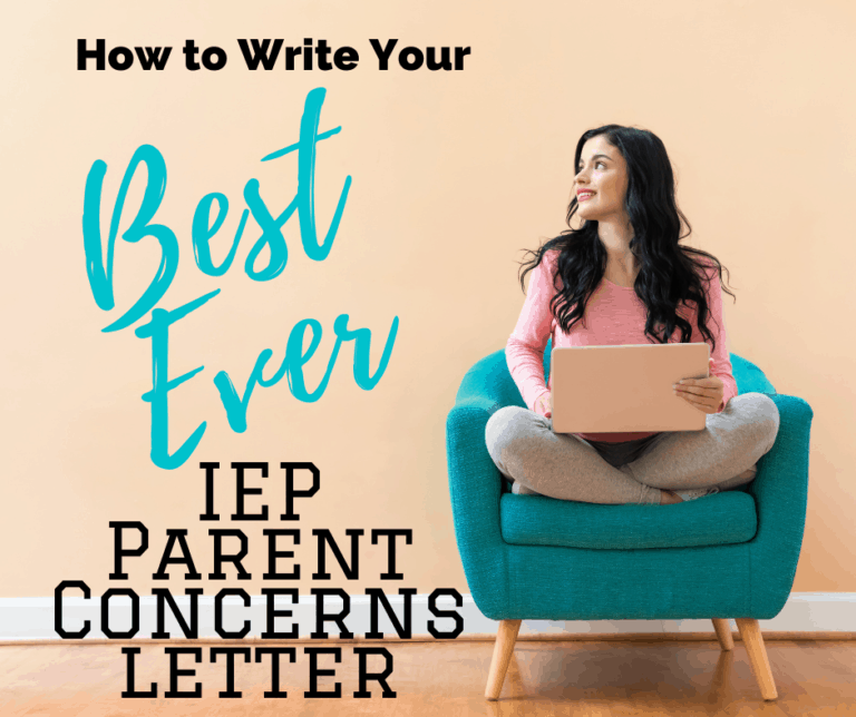 How To Write a Parent Concerns Letter for your IEP that Gets Noticed | Templates