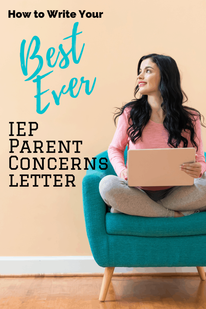 a woman on her laptop writing iep parent concerns letter