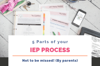 "There are 5 parts of the IEP process that are a ""must do"" for parents, and will make the overall process less overwhelming. #DontIEPalone"