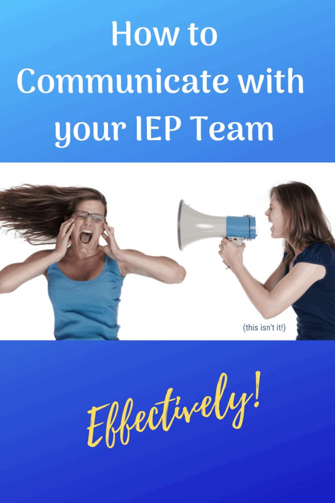 iep team communication