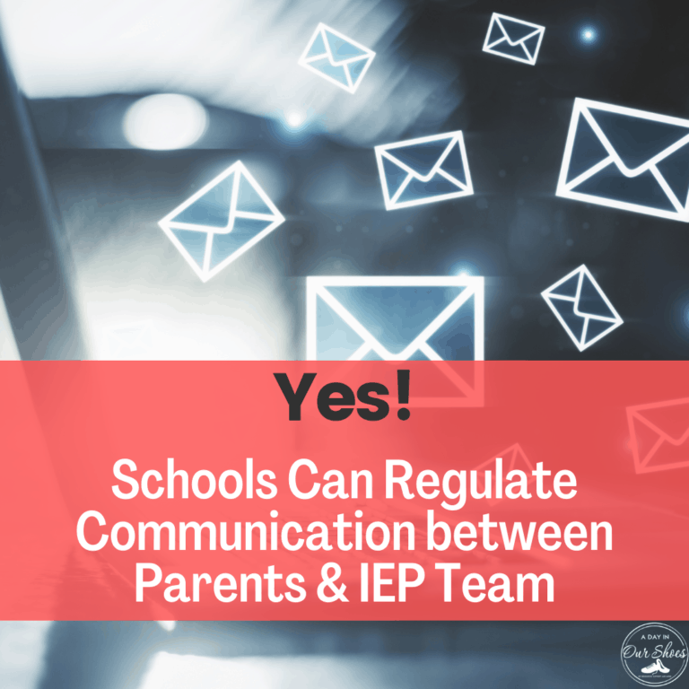 Yes, a School can put IEP Parents on a Communication Plan.