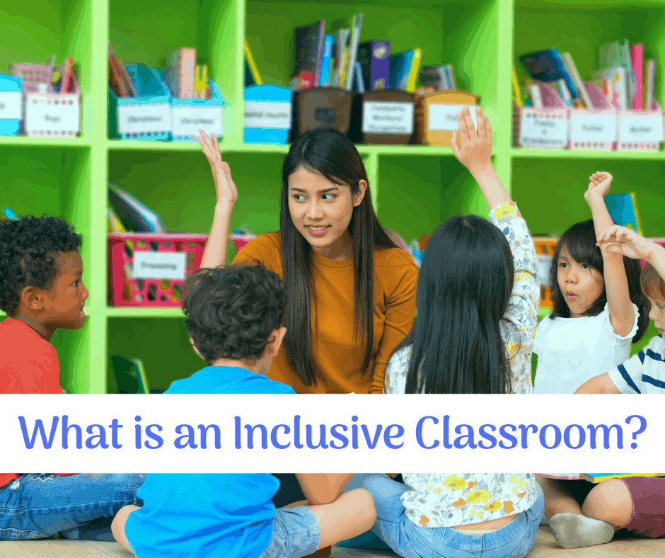 a teacher and students in an inclusive classroom