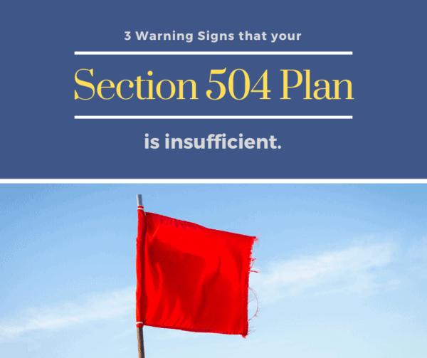 insufficient 504 plan