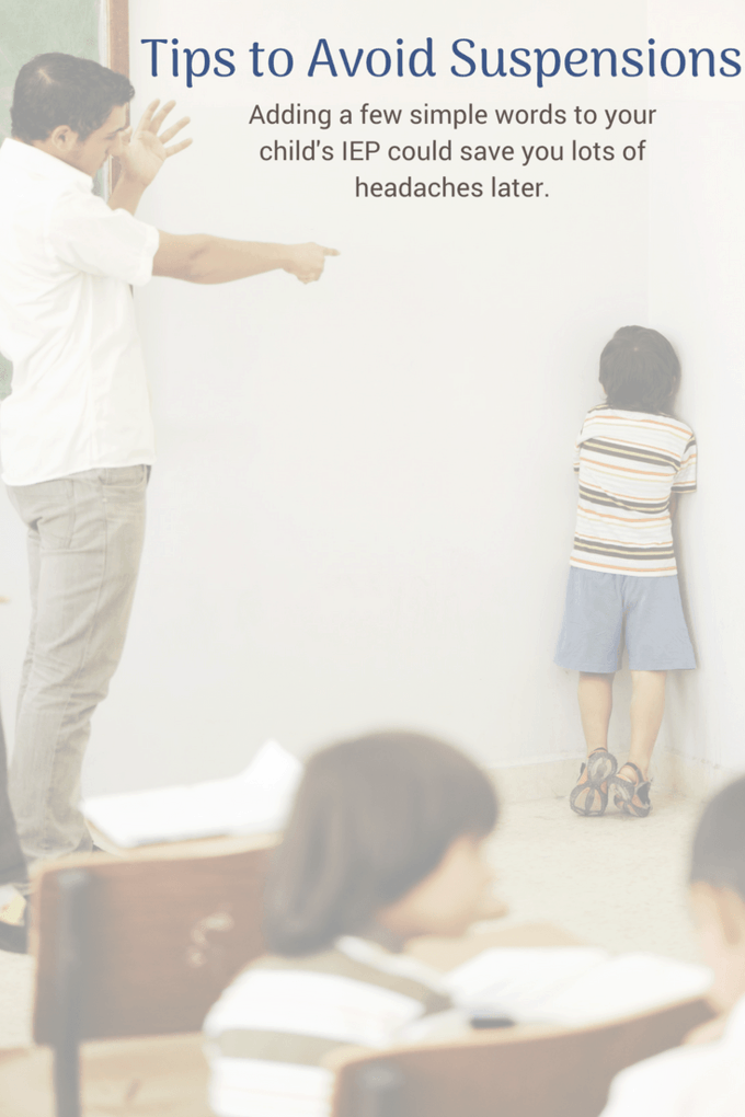 Adding a few phrases to your child's IEP could help prevent them from being suspended.