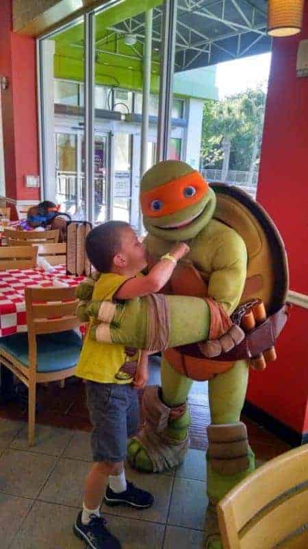 kevin with ninja turtle