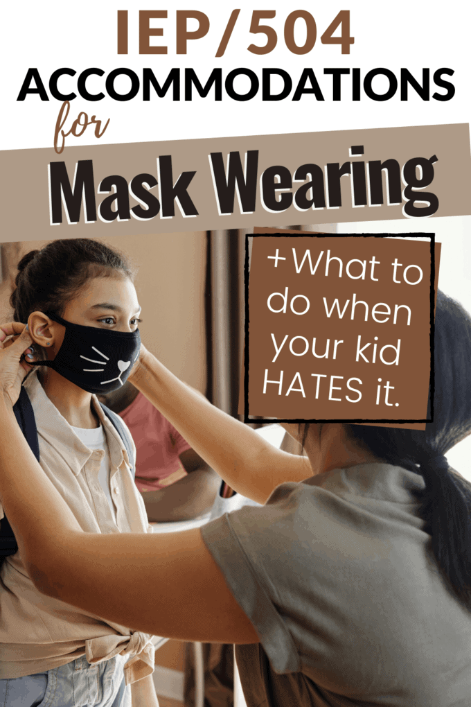 kid hates wearing a mask