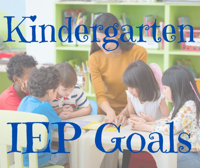 50 Kindergarten IEP Goals | Reading | Math | Writing