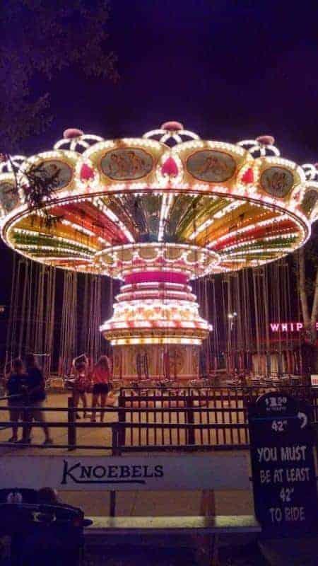 knoebels swings at night