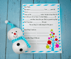 letters to santa for christmas free template snowman paper template image