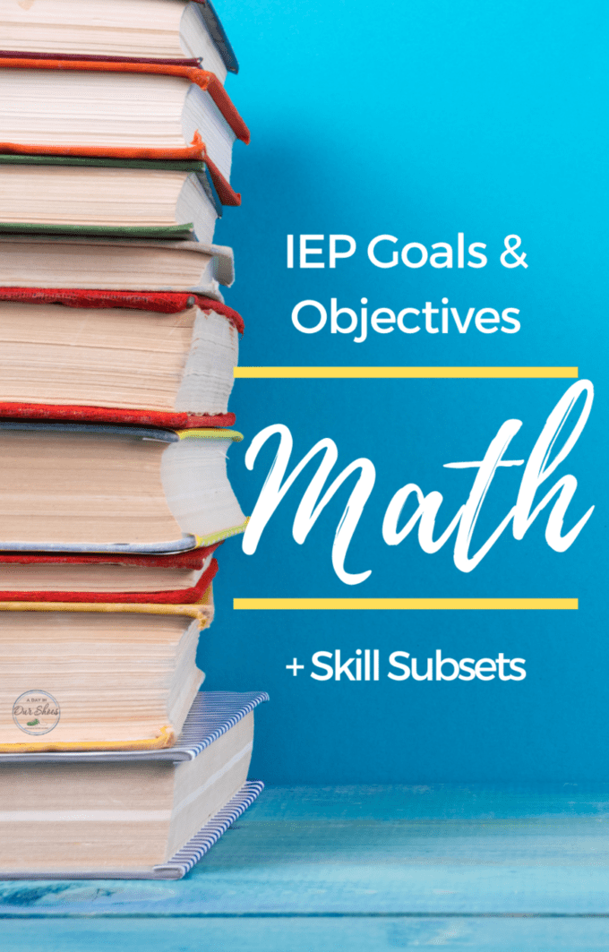 Math IEP Goals and Objectives | Printable List | PDF