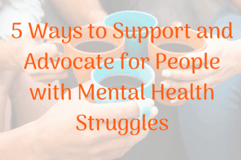 mental health illness supports group of people holding coffee cups in a circle together