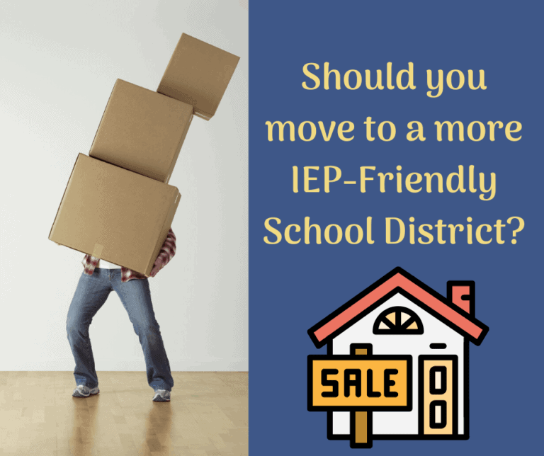 Should you Move to a Better School District for your Child's IEP?