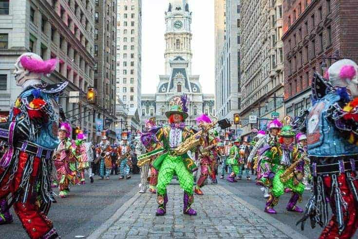 mummers and city hall parade