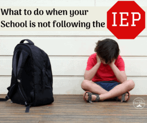 school not following IEP