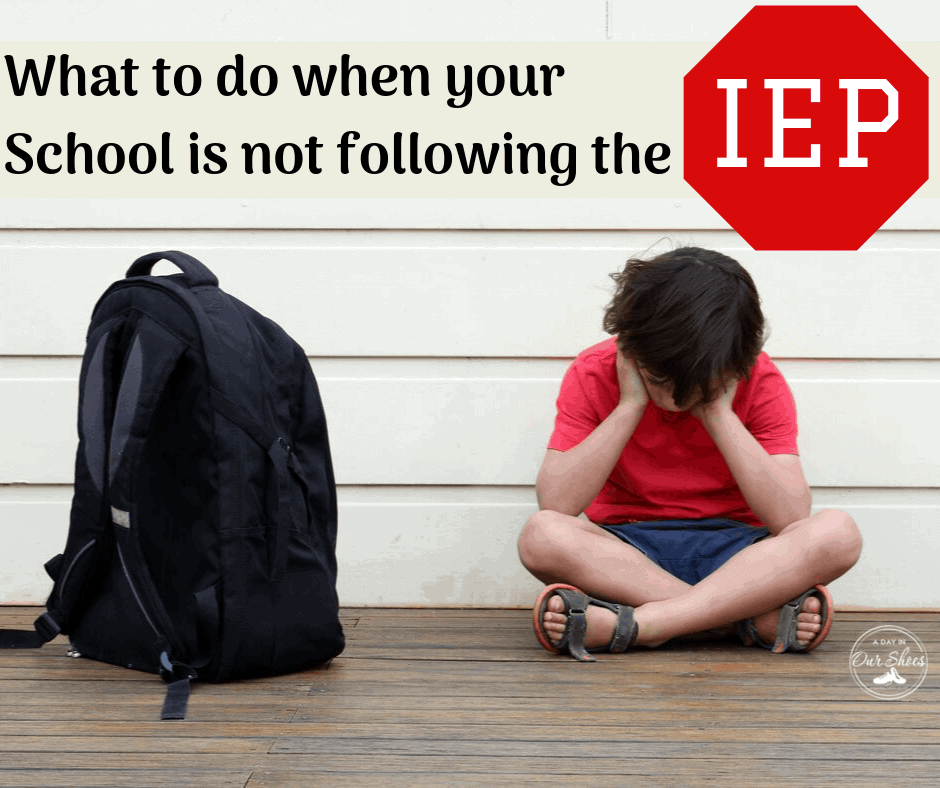 school not following IEP