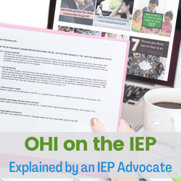 What is OHI on the IEP? | Understanding Other Health Impairments | ADHD