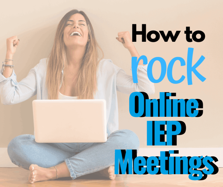 How to Rock an Online Virtual IEP Meeting.
