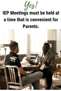 parent participation iep meeting