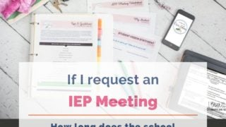 If I request an IEP meeting, how long does the school have to respond?
