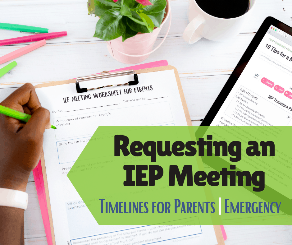 parent requesting an IEP meeting timeline