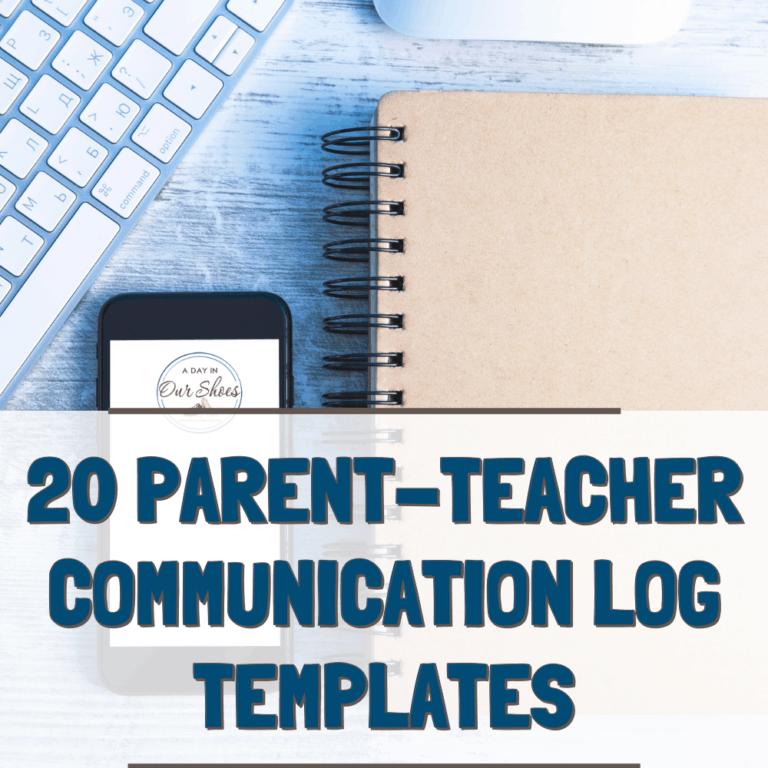20 Parent Communication Log Templates |  Free Parent-Teacher Daily Communication Sheets