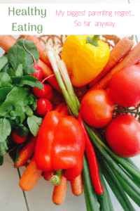 parenting regret healthy food carrots tomatoes peppers spinach