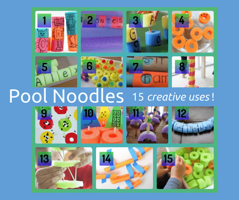 pool noodles uses non swimming example images of different activties crafts art learning with pool noodles