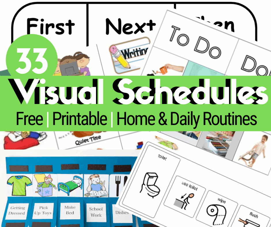33 Printable Visual/Picture Schedules For Home/Daily Routines